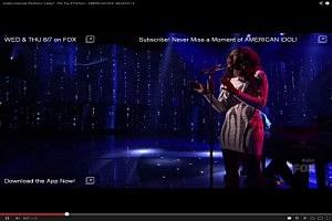 Amber Holcomb sings on American Idol