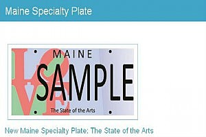 New Maine License Plate